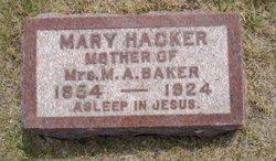 Mary S <i>Bowman</i> Hacker