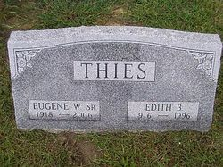 Edith B <i>Baker</i> Thies