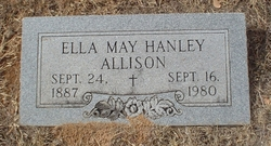 Ella May <i>Hanley</i> Allison