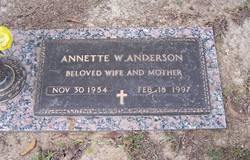 Annette W Anderson