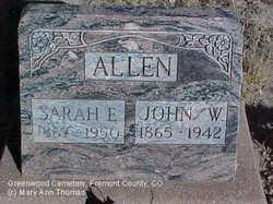 Sarah Eliza <i>McKaig</i> Allen