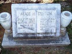 Alice Helen <i>Hovater</i> Denton