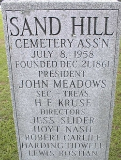 Sand Hill Cemetery