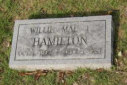 Willie Mae <i>Leatherwood</i> Hamilton
