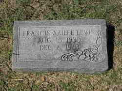 Frances Azilee Lewis
