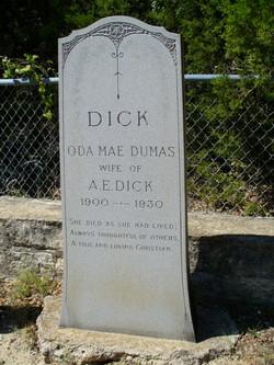 Oda Mae <i>Dumas</i> Dick