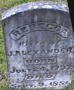 Rebecca <i>Rogers</i> Alexander