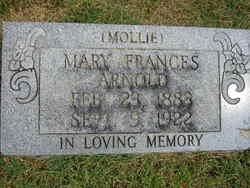 Mary Frances Mollie <i>Sanders</i> Arnold