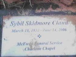 Sybil <i>Skidmore</i> Claud