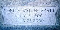Lorine <i>Waller</i> Pratt