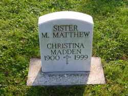 Christina Sister Mary Matthew Madden