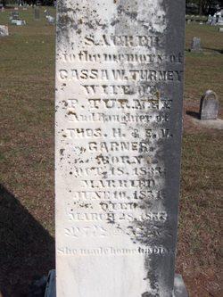 Cassa W. <i>Garner</i> Turney