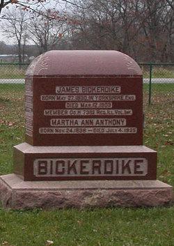Martha Ann <i>Anthony</i> Bickerdike