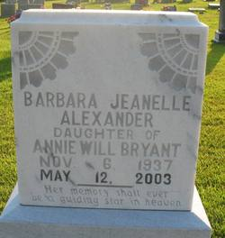 Barbara Jeanelle Alexander