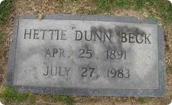 Hettie <i>Dunn</i> Beck