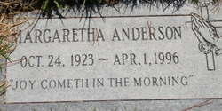 Margaretha <i>Lewis</i> Anderson