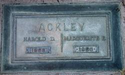 Harold DeForest Ackley