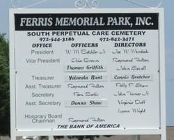 Ferris Memorial Park South