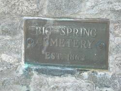 Big Spring Cemetery