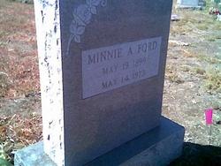 Minnie Anna <i>Burch</i> Ford