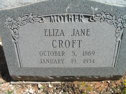 Eliza Jane <i>Martin</i> Croft