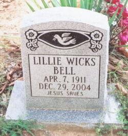 Lillie <i>Wicks</i> Bell