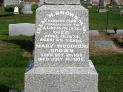 Mary <i>Woodford</i> Brown