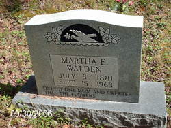 Martha E <i>Rutherford</i> Walden