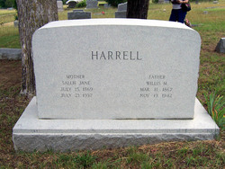 Sallie Jane <i>Hughes</i> Harrell