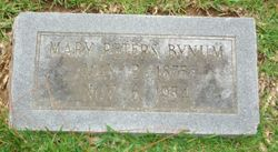 Mary <i>Peters</i> Bynum