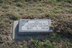 Katherine Elizabeth <i>Guthrie</i> Archer