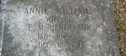 Annie <i>Williams</i> Henderson