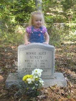 Minnie Alice <i>Nunley</i> Bacon