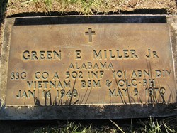 Sgt Green Edward Miller, Jr