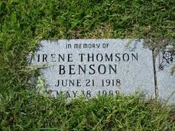 Annie Irene <i>Thomson</i> Benson