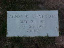 Agnes <i>Kennedy</i> Stevenson