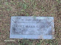 Janice Faye <i>Earp</i> Carroll