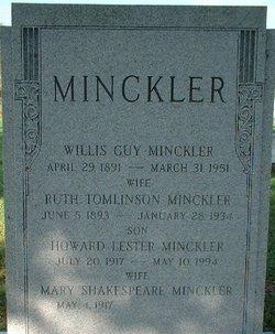 Mary <i>Shakespeare</i> Minckler
