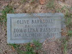 Olive <i>Rasbury</i> Barksdale