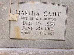Martha <i>Cable</i> Burton