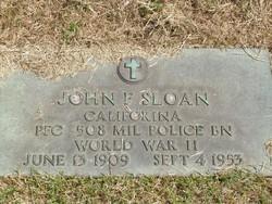 PFC John F Sloan