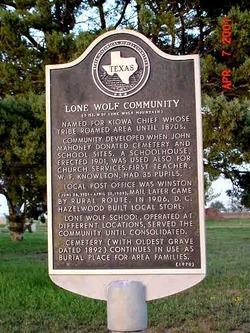 Lone Wolf Cemetery