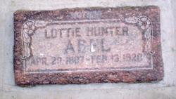 Charlotte Lottie <i>Hunter</i> Abel