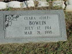Clara <i>Cole</i> Bowlin