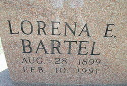 Lorena E. <i>Fronk</i> Bartel