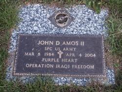 Pvt John Douglas Amos, II