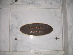 Augusta Gussie <i>Costello</i> Kroeger