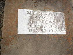 Susan Bourland <i>Boswell</i> Brown