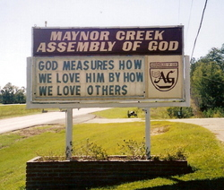 Maynor Creek Assembly of  God Church Cemetery