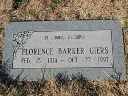 Florence <i>Barker</i> Giers